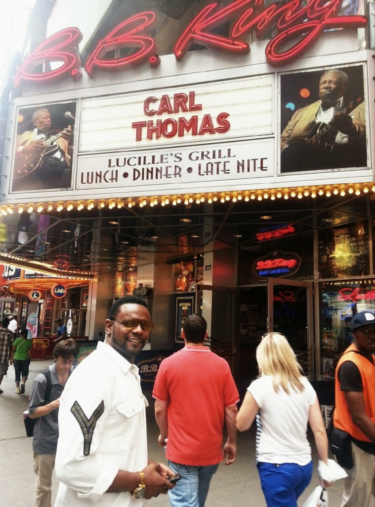 B.B.Kings /New York was the scene, R&B crooner Carl Thomas was the artist & soul music was on the menu July 11th